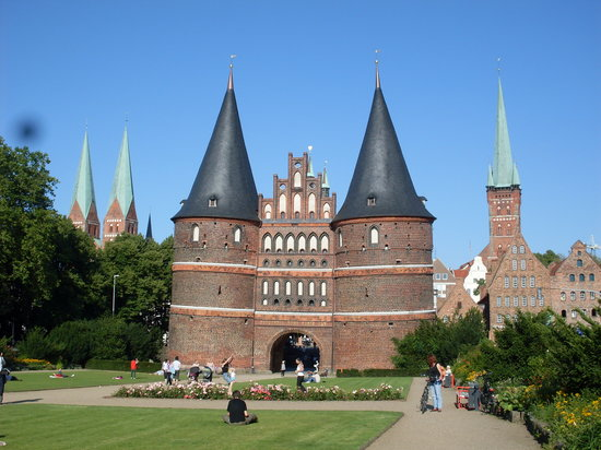 Lubeck, Jerman: Holstentor