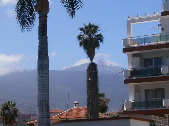 Masaru Apartments: Vistas del Teide desde la piscina...precioso!!