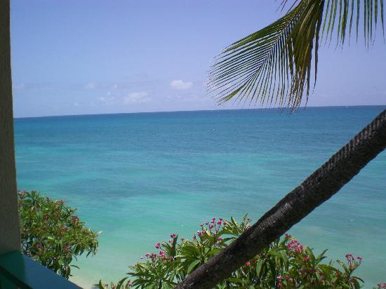 Blue Waters Antigua: view from our 1st room