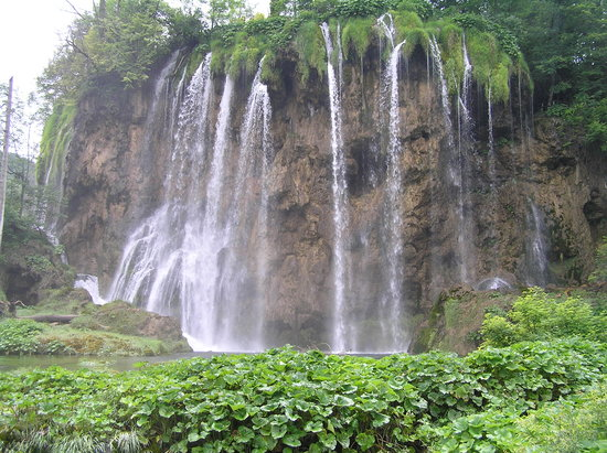 Kroasia: One of the falls at plitvice lakes
