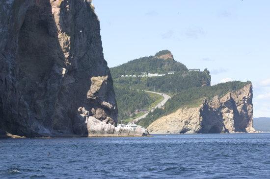 Perce, Canadá: Percé vu du bateau