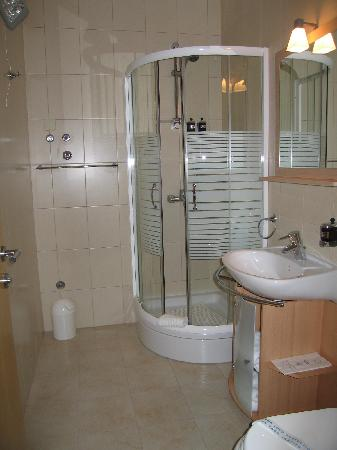 Berkeley Hotel & Day Spa: Shower (1 bed apt no sea view)
