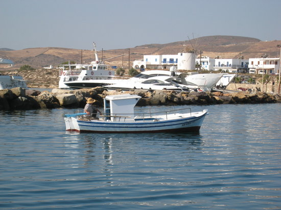 Antiparos, Greece: fisherman