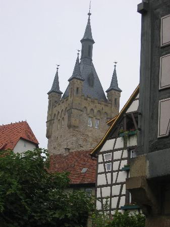 Hotel Sonne Und Weinstube Feyerabend: A medieval tower in Bad Wimpfen