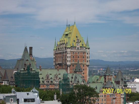 Québec (ville), Canada : the roof of Le Château Frontenac