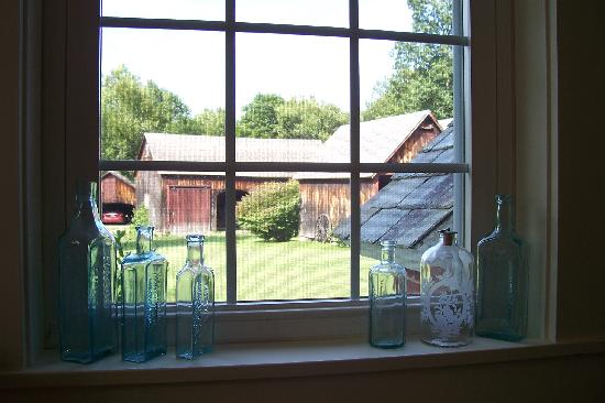 The Johnson Homestead: Looking out towards the barns.