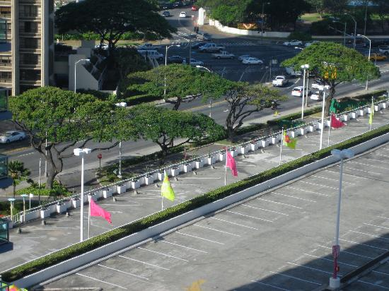 Ala Moana Hotel: View of the Mall Parking Lot