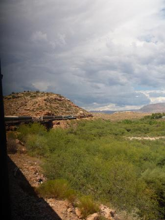 Verde Canyon Railroad: View of the Train ahead