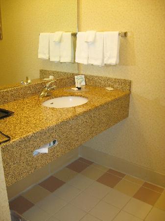 Fairfield Inn & Suites State College: Bathroom Sink