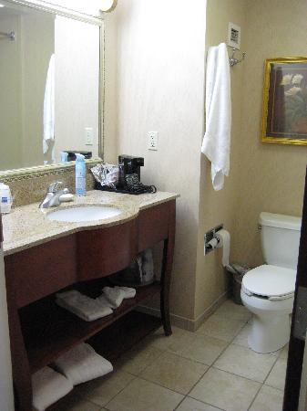 Hampton Inn Littleton: our hotel room bathroom
