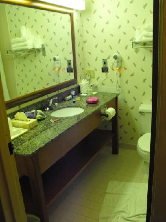 Comfort Suites: bathroom entrance