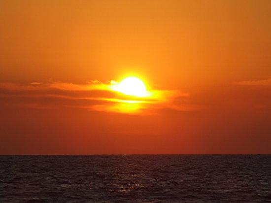Formentera, Spanyol: TRAMONTO VISTO DA CALA SAONA