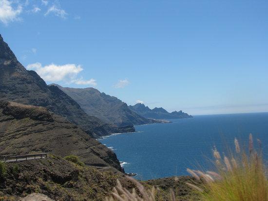 Gran Canaria, Spain: falaise d'Agaete