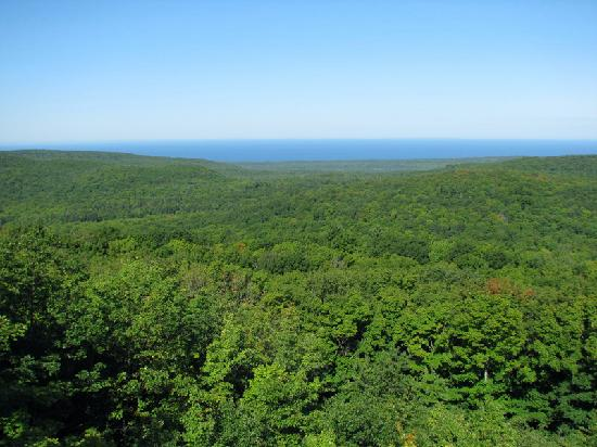 Presque Isle Campground: View from Summit Peak