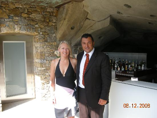 Eden Rock Resort: With the manager, Christiano