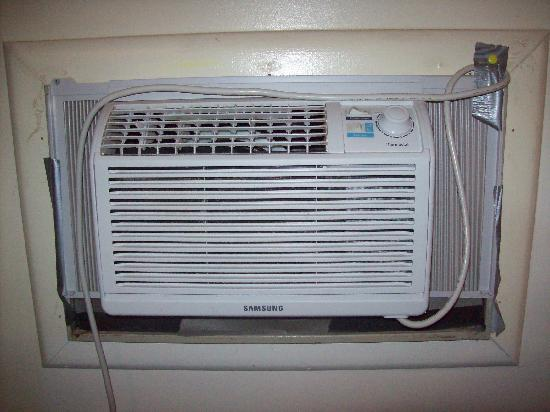 Bathroom Window Air Conditioner air conditioner - too small for the room/bathroom - picture of
