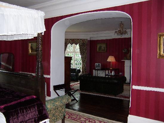 Ashley Park House: View from our bedroom to parlor
