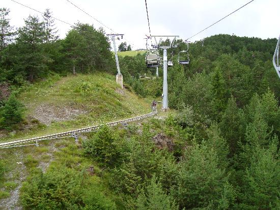 Imst, Austria: Chairlift and track view 2