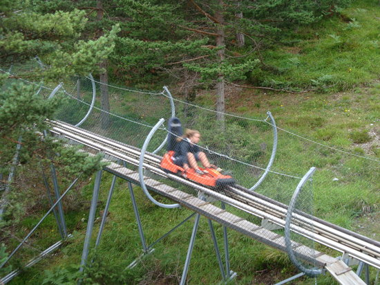 Imst, Avusturya: Alpine coaster in action