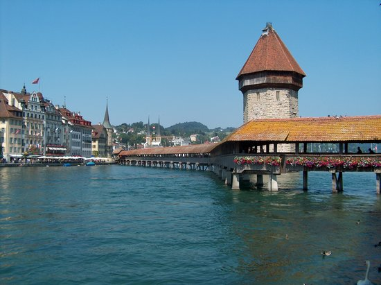 Lucerna, Suiza: Covered Bridge Lucerne
