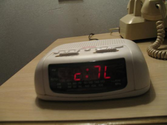 "Comfort Inn Sandusky: clock stuck on ""c7L"""
