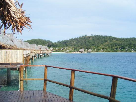 Likuliku Lagoon Resort: View from Overwater Bure (second from the end)