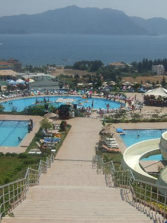 Club Palm Garden (Keskin) Hotel  & Apartments : view from water park