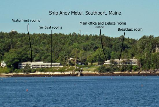 Ship Ahoy Motel: Ship Ahoy buildings from boat ride