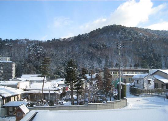 Ryokan Biyunoyado: View out from front of hotel