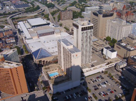Millennium Cincinnati Hotel Property From Atop Carew Tower
