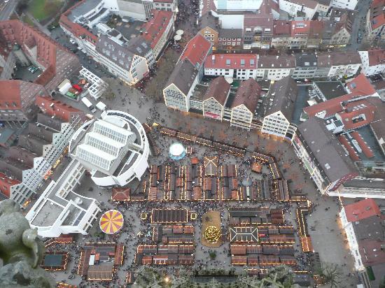 Ulmer Muenster: Christmas Market from top of Ulm Münster