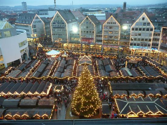Ulmer Muenster: Christmas Market at Dusk