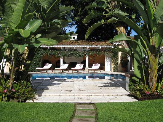 Mansion del Pensativo: The Pool (hammocks under a pergola are out of view)