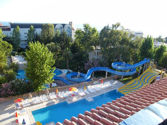 The Sense De Luxe Hotel: Slide Pool From Our Balcony