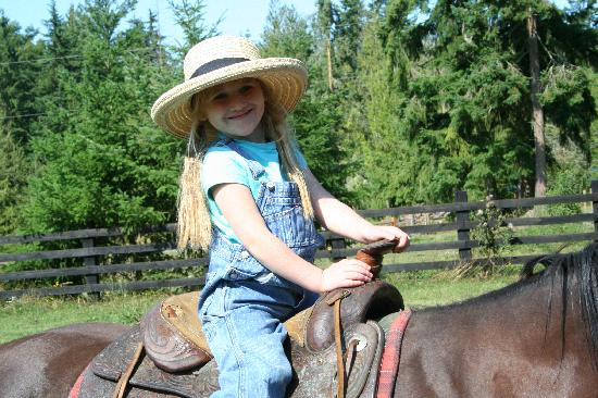 Bond Ranch Retreat: A very happy 5-year-old gets a quick ride