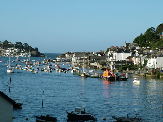 Fowey, UK : From the terrace
