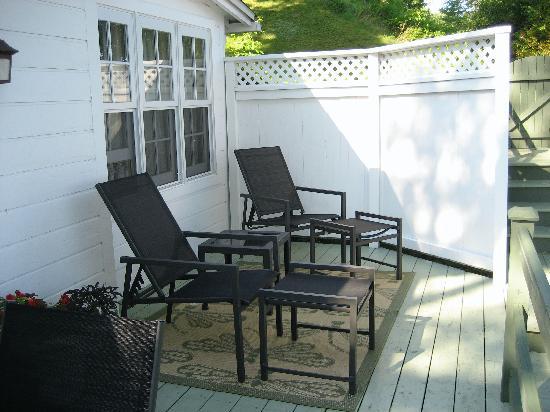 Manoir Hovey: le cartier deck