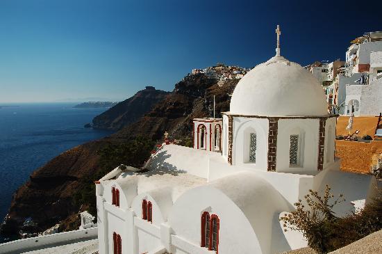 ซานโตรีนี, กรีซ: Iglesia en Fira