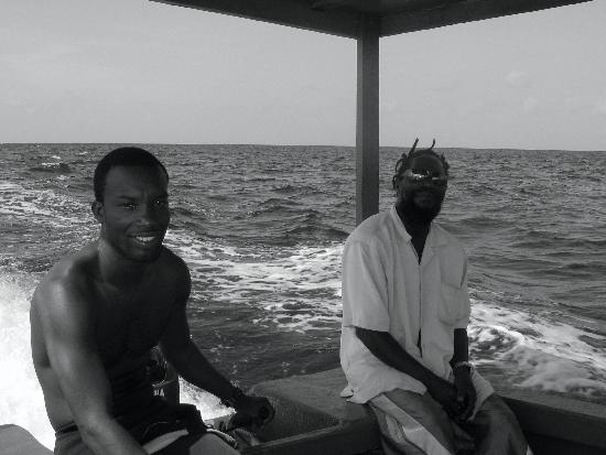 "Mariposa Hideaway: Marine life Divers, Master diver ""Owen"" and Captain ""Ellis"""
