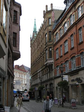 First Hotel Mortensen: View of hotel from Baltzargatan