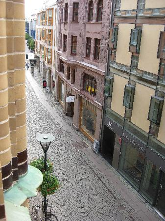 First Hotel Mortensen: View of Baltzargatan from room