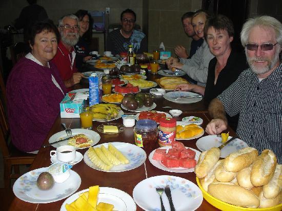 Dreams Hotel: the breafast table!  Bon appetit