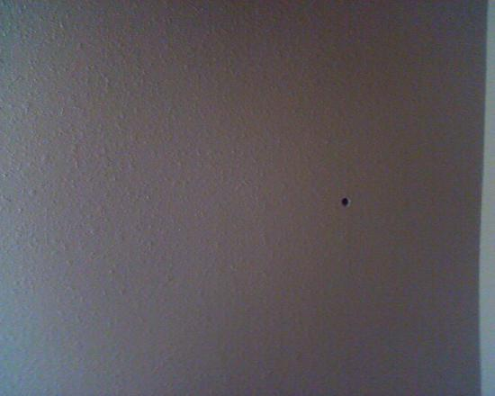 Magnolia Inn and Suites: Bullet hole?