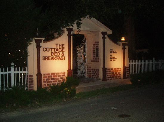 The Cottage Bed and Breakfast: friends wedding reception entrance