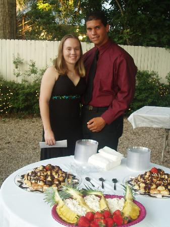 The Cottage Bed and Breakfast: My fiance and myself at friend's wedding reception