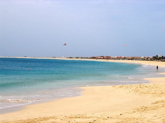 Cape Verde: Sea view - south of S.ta Maria town