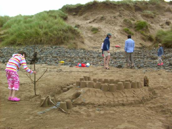 Saunton Sands Beach: great sand for making castles