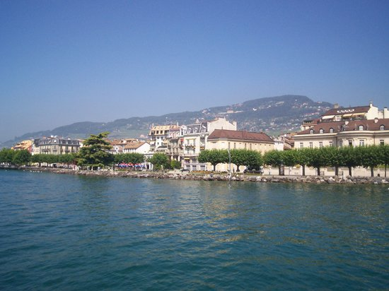 Веве, Швейцария: Vevey from the lake, Switzerland, August, 2008