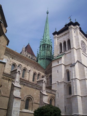 Genève, Sveits: Cathedral, Geneva, Switzerland, September, 2008