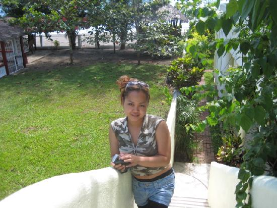 Dona Marta Boutique Hotel: my wife on the stairs to roofterras